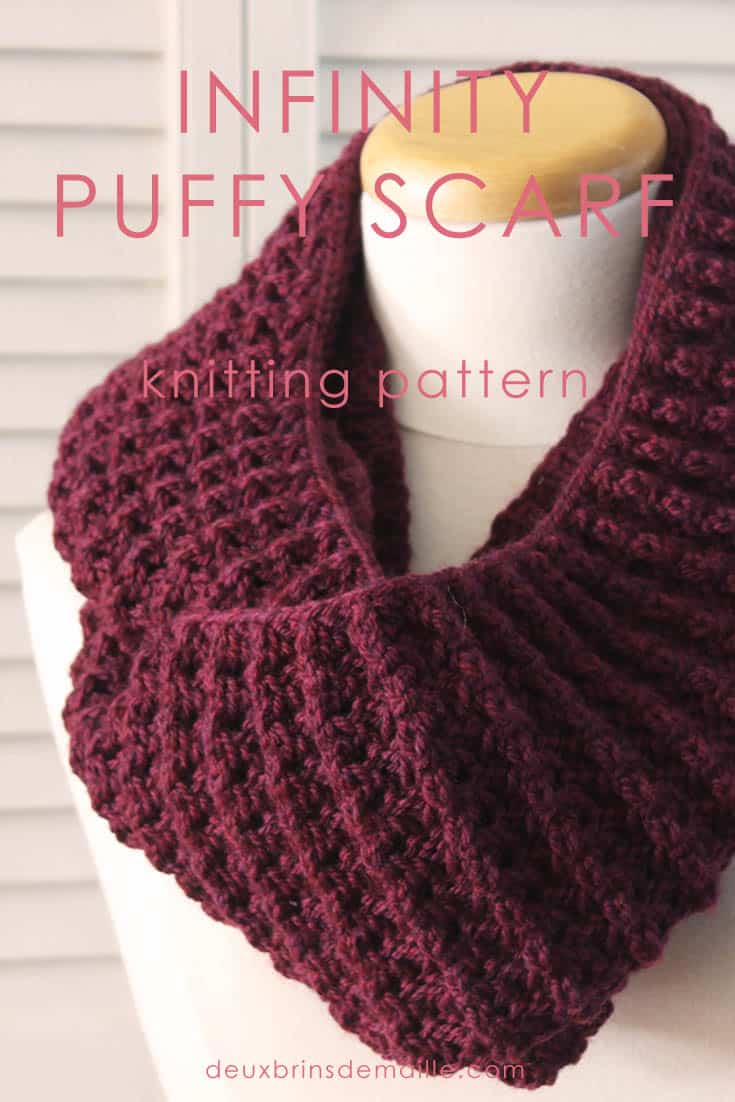 New Knitting Pattern] The Infinity Puffy Scarf