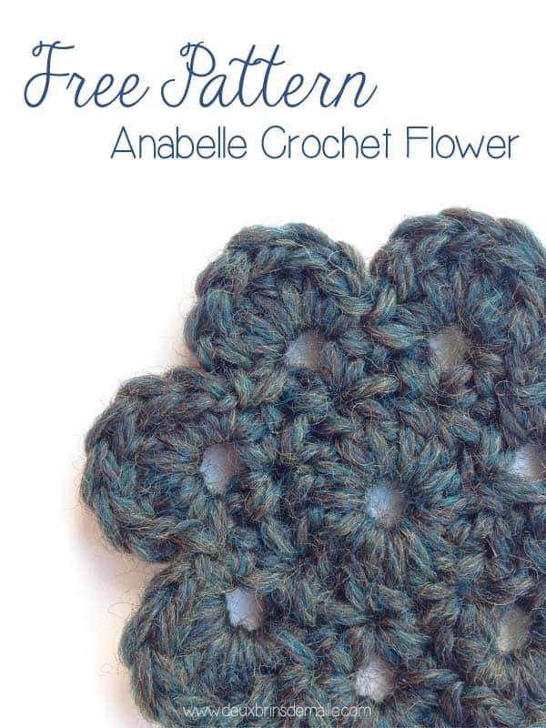 Free Crochet Pattern Motif Flower Anabelle