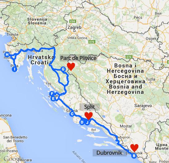 Carte Croatie 2014 top