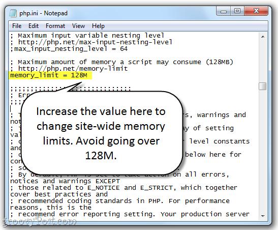 Allowed memory size of 268435456 bytes exhausted Erro de limite de memória (PHP memory limit)