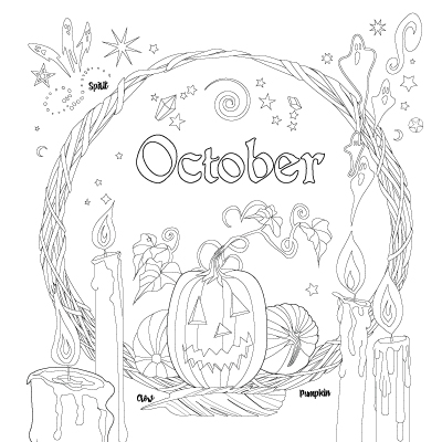 Planner Coloring Book Of Shadows