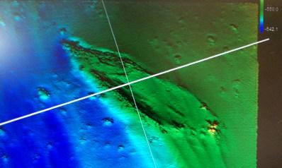 Shipwreck as seen from the Surveyor III
