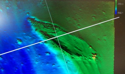 Shipwreck as seen from the Surveyor III
