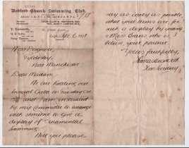 1901-9-6 Thomas Unsworth Letter