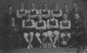 """Tyldesley Swimming Club won the Manchester and District First Division Water Polo Championship for the first time in 1927, but this proved to be the last success until after the Second World War. The members of the squad in 1927 were:- Jimmy Blears, Bill Lewis, Alf Tyldesley, Bob Lewis, Kenneth Tyldesley, J Leyland, """"Jab"""" Johnson and """"Dickie"""" Wright."""