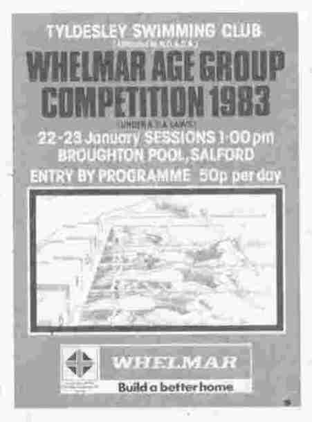 1983 Whelmar Age Group Gala Programme
