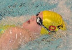 Jaeger broke the British Record in the 13 year girls 50m backstroke at the Lancashire Age Groups.