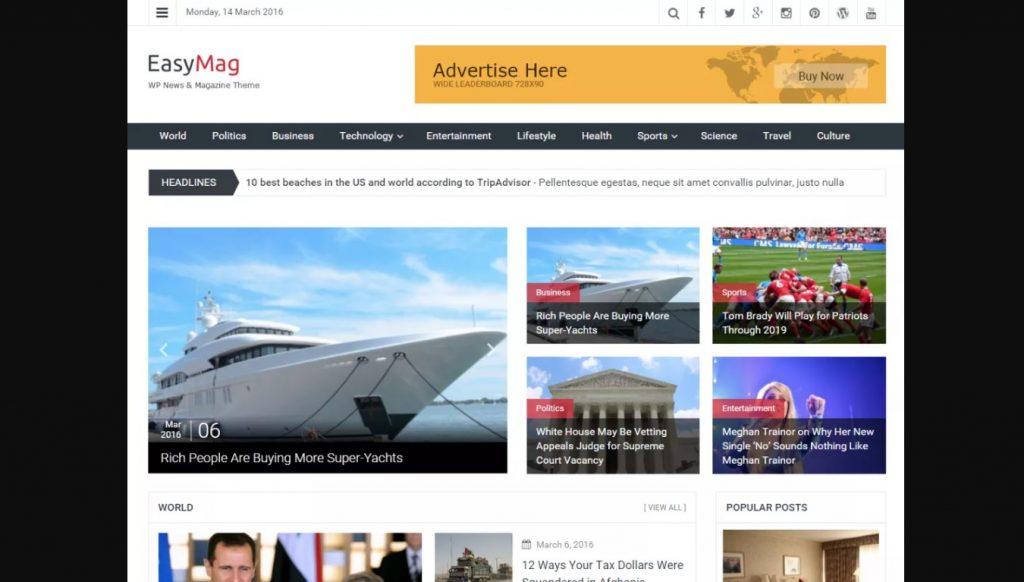 EasyMag WordPress Theme
