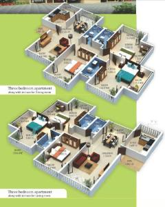Devashri Royale_3BHK Layout1