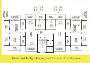 Devashri Royale_Build A & G Upper Ground, First, Second & Third Floor Plan
