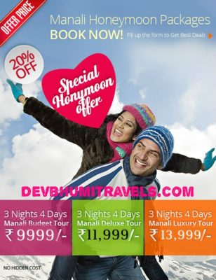 Kullu Manali Honeymoon Package 3N/4D