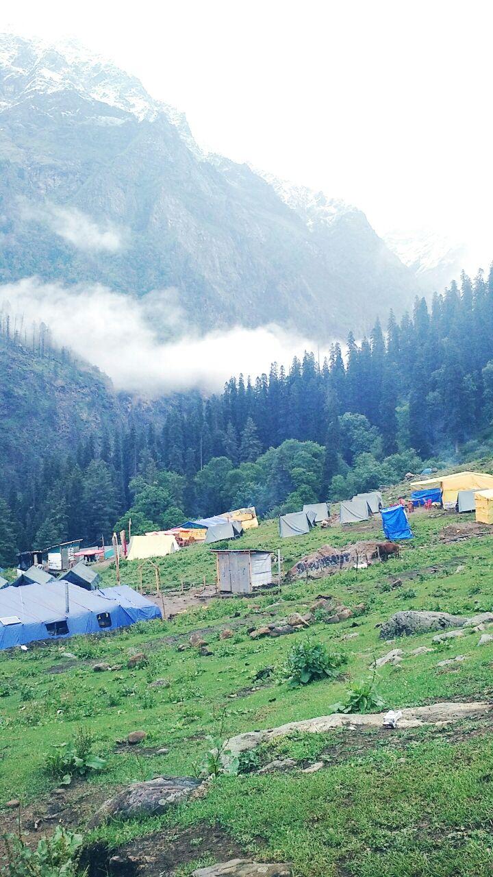 Kheerganga Camp View