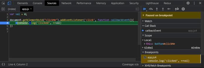 create callback function javascript
