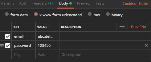 新增使用者FORM格式返還成功例子