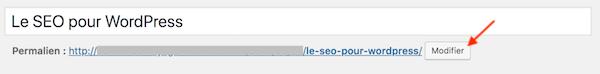 WordPress - Mot clé dans l'url