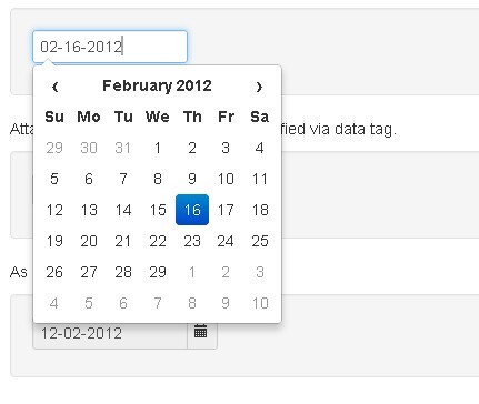 A Date Picker using JavaScript with demo