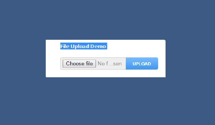 file upload with progress bar