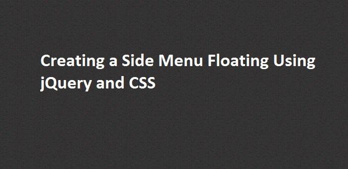 Side Menu Floating
