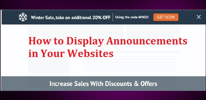 How to Display Announcements in Your Websites