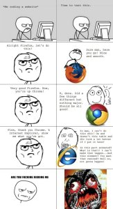 Life of a web developer supporting all browsers meme