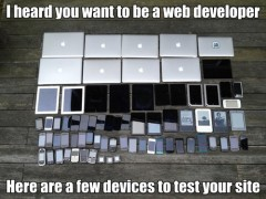 i heard you want to be a web developer here are a few devices to test your site