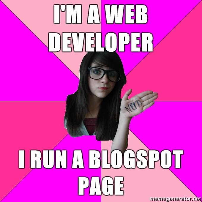 Im A Web Developer I Run A Blogspot Page