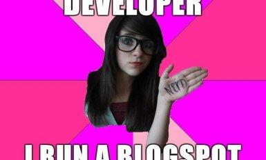 Im A Web Developer I Run A Blogspot Page