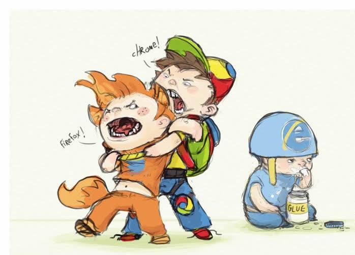 Chrome Vs Firefox While IE Eats Glue