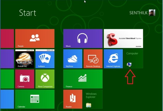 How to add My Computer to the Start Screen in Windows 8 Consumer Preview ? - 2