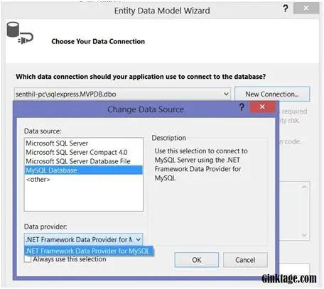 Using MySQL with Entity Framework in .NET Application.
