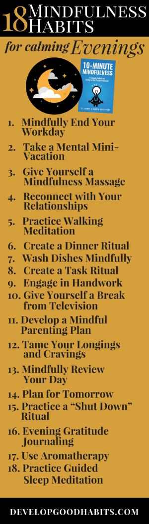 18 calming evening mindfulness exercises