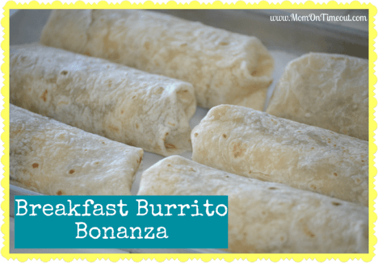 The Breakfast Burrito Bonanza is easy to make and customizable too!