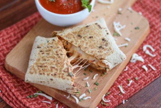 This Easy Chicken Parmesan Wraps recipe is one of the best freezer meals for two for couples on-the-go.