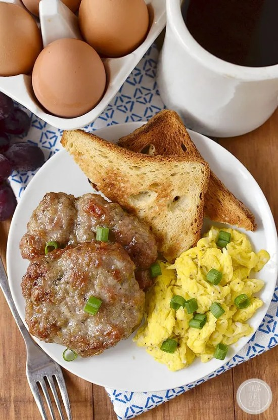 One of the simples freezer meals for two is this Homemade Breakfast Sausage recipe.