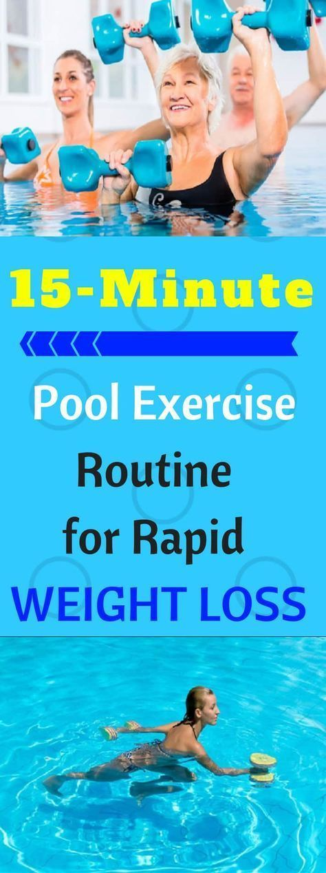 Water exercises for fast fitness and fat burning exercise