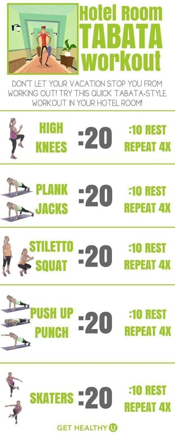 Great fat burning workout that does not need a lot of space. The perfect quick fat burning workout then traveling.