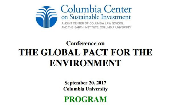 Conference on the Global Pact for the Environment