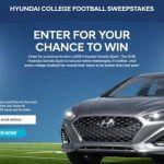 Hyundai College Football Sweepstakes