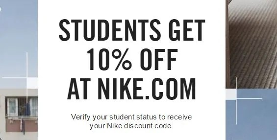 Students Get 10% Off At Nike.Com