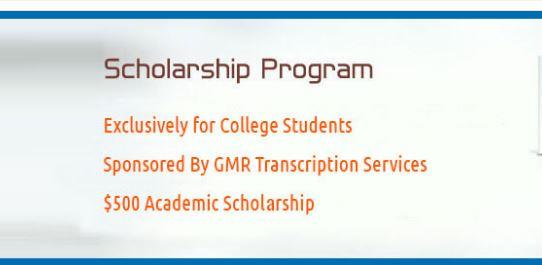 GMR Transcription Academic Scholarship Program