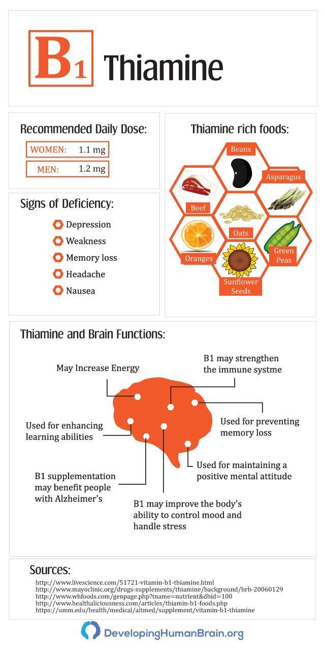 thiamine infographic