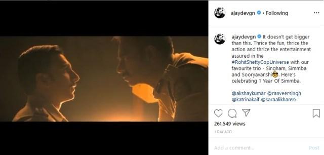Gambar : Instagram / @ajaydevgn