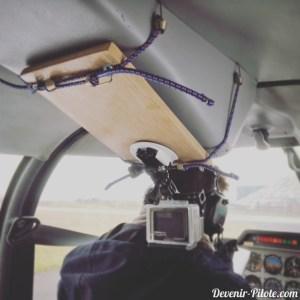 DIY Fixation GoPro pour Avion DR400 installation