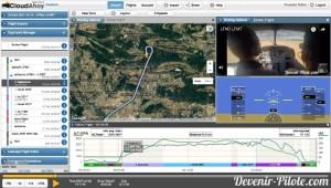 Cloudahoy - Navigation VFR LFNU vers LFMT