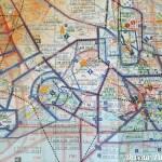 Carte 1:1000000 pour navigation aérienne VFR. Secteur Montpellier édité par SIA