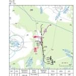 Carte d'approche (VAC) de Uzès (LFNU)