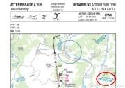 carte VAC de Bédarieux (LFNX) avec l'information du VOR de Montpellier Fréjorgues (LFMT)