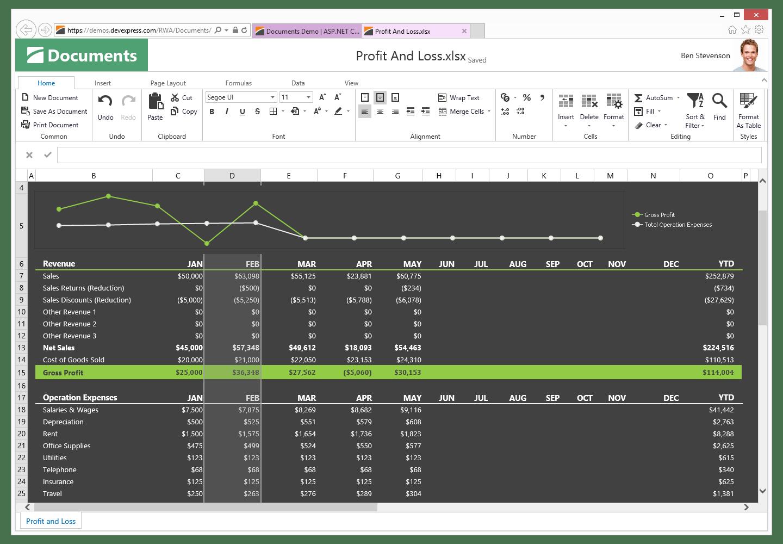 Devexpress Asp Amp Mvc Spreadsheet