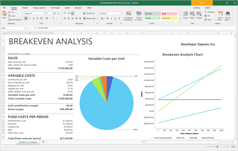 Winforms Spreadsheet