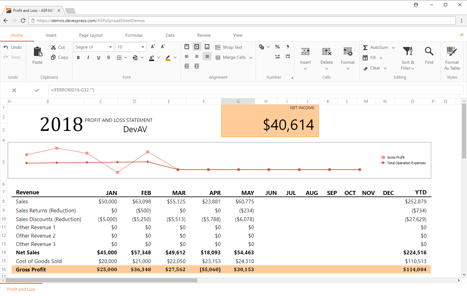 Spreadsheet Ui Component For Winforms Wpf Asp Mvc